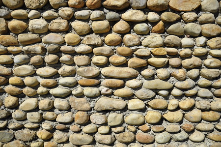 a wall of stone, Perouges Stock Photo