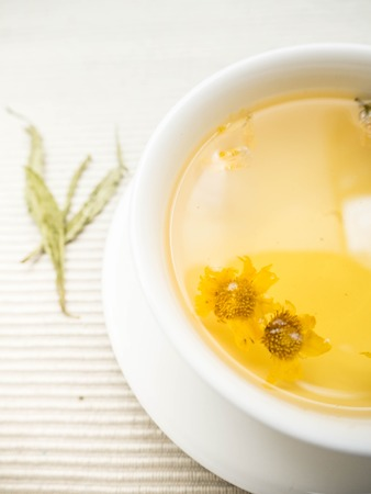 Hot chrysanthemum tea.  Drink for healthy concept