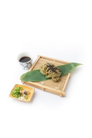 Japanese udon, food on white background