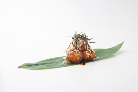 Tako Wasabi, Octopus Tentacle with Pickled Wasabi Stems, Japanese Food Stock Photo