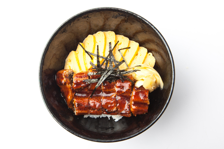 Unagi Don, Grilled Eel Rice Bowl, Japanese Food