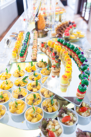 Dessert in cafe or restaurant