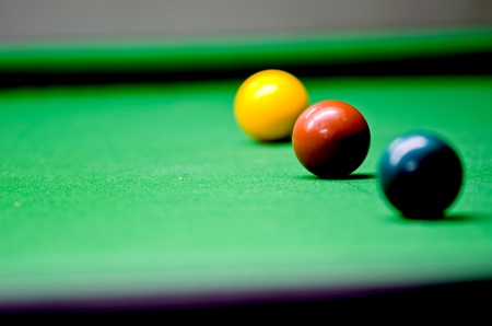 Play in snooker Stock Photo
