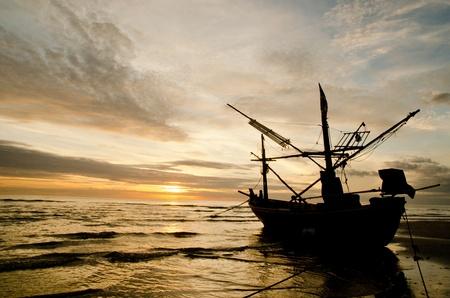 Fishing Boat Hua Hin beach