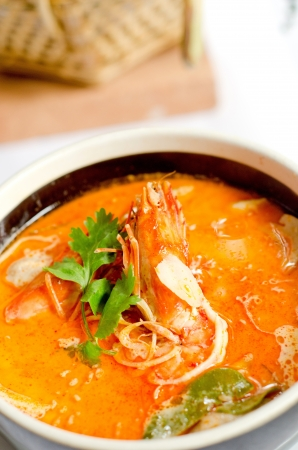yum: Tom Yum Goong Stock Photo