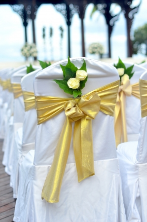 Chairs and Wedding Flowers