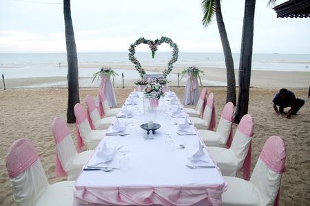Beach Party Wedding Reception Dinner Celebration photo