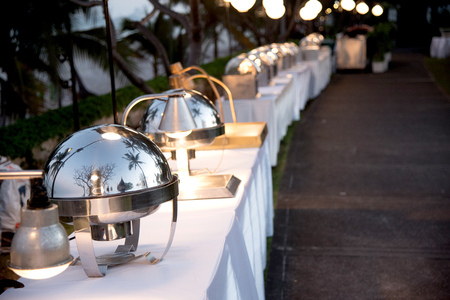 celebration event: Buffet food for outdoor happening