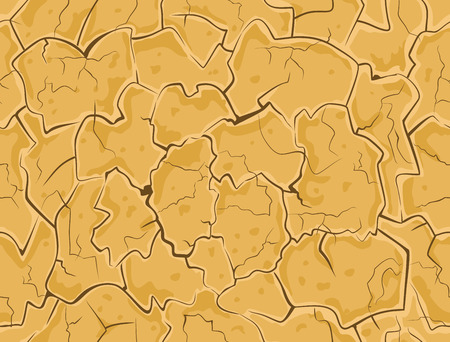 Dry cracked ground. Drought surface earth texture seamless pattern