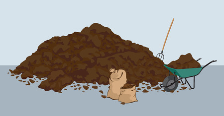 Mucchio di muck â ?? letame. Agricoltura di fertilizzanti organici. Agricoltura biodinamica.