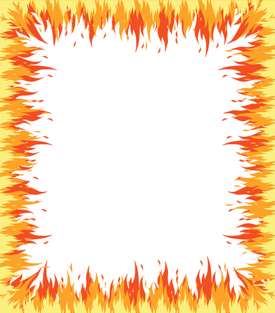 Fire flame frame illustration.