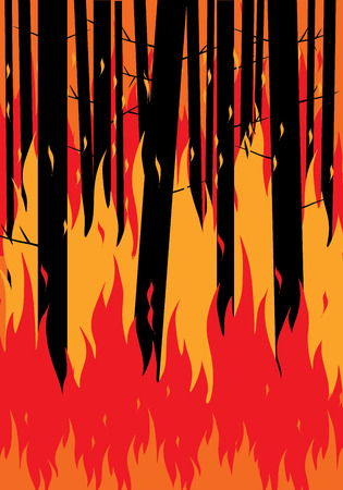 Save forests from fire concept.