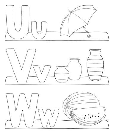 Kleurplaten Letter V.Kleurplaat Letters