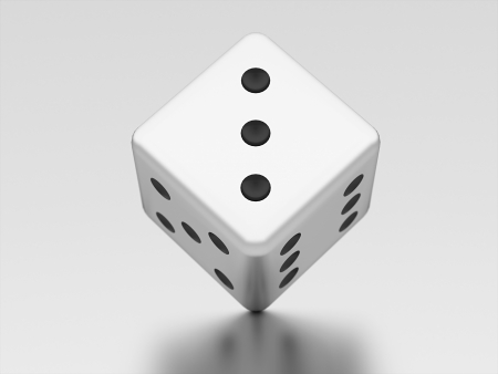 three dimensional shape: Dice win or lose