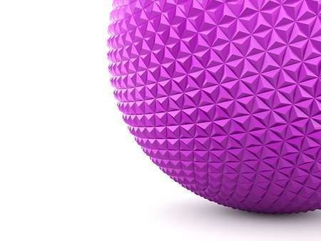 Pink texture sphere on white background