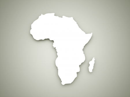 Africa continent on dark background photo