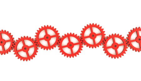 Red gears concept on white Stock Photo