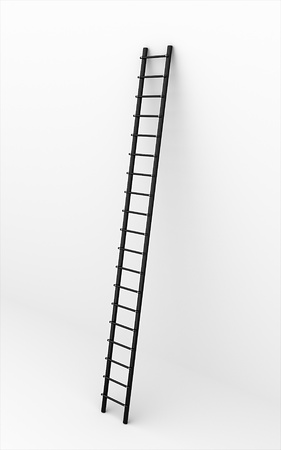 Black ladder on the wall