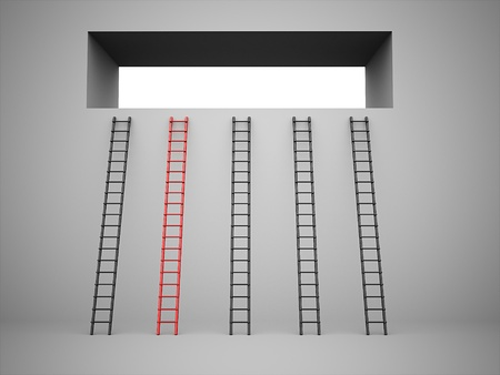 Ladder concept one is red color