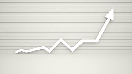 stock illustration: Arrow with graph rendered