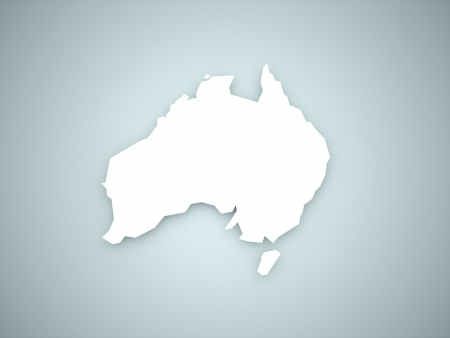 australia map: Australia continent on blue background