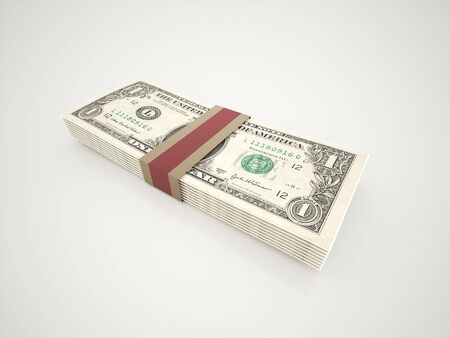 Paper dollars rendered Stock Photo - 19937299