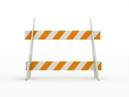 白い背景で隔離の道ブロック オレンジ 写真素材