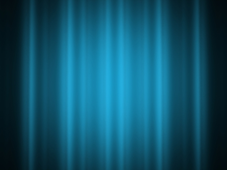 Curtain on blue color