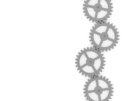 Gears concept on white background Stock Photo