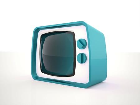 Old TV tiris on white background isolated photo