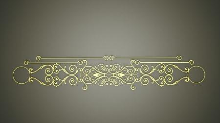 Gold ornament on dark background photo