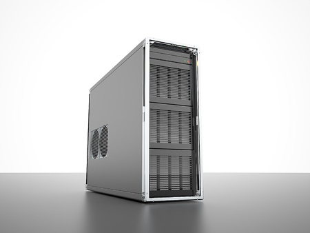 Server PC rendered Stock Photo
