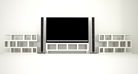 Home cinema wall with repro photo