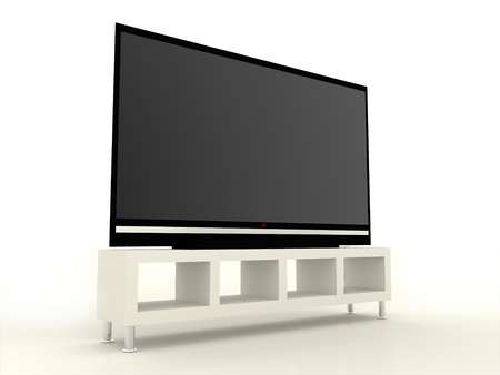 TV LCD or Plasma TV on white background photo