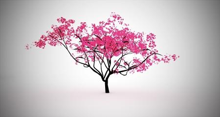 Pink japanes small tree Stock Photo - 20003706