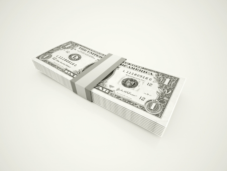 Dollars rendered isolated Stock Photo - 20023443