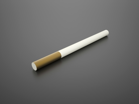 vices: One rendered cigarette on black background