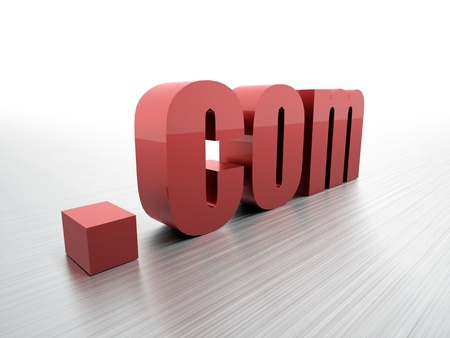 .com domain render red photo