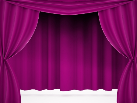 Curtain pink rendered photo