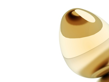 Golden egg easter concept on white background Stock Photo - 20023273