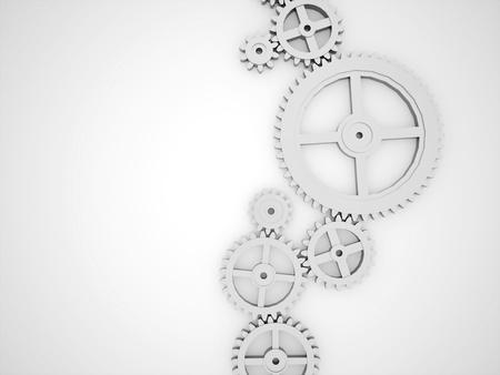 レンダリング銀歯車コンセプト