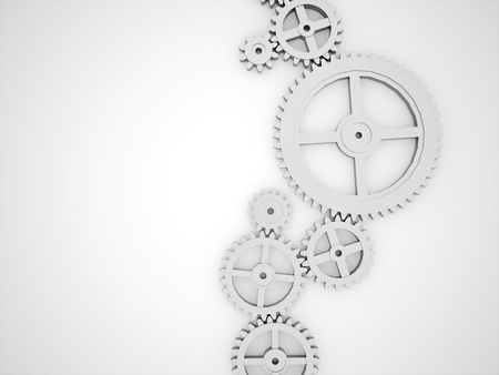 clock gears: Silver gears concept rendered