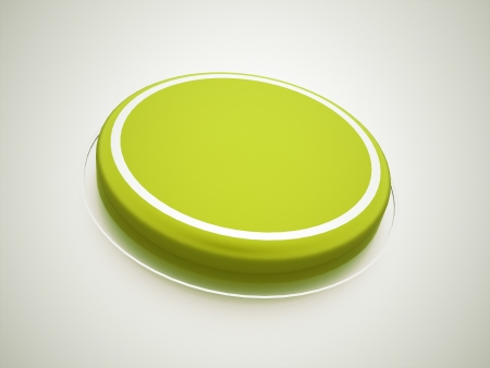 Green press button rendered photo