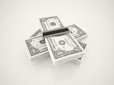 Dollars black and white Stock Photo - 20023458