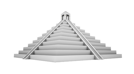 3d temple: Mayans piramide isolated
