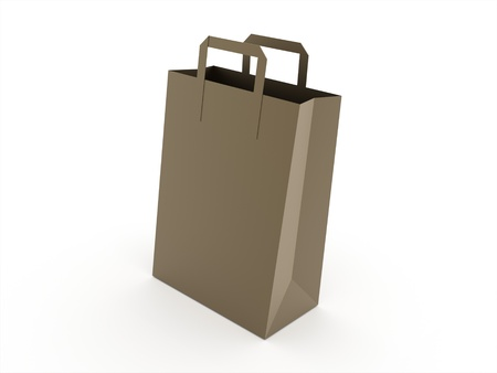 shoping bag: Paper shoping bag isolated on white background