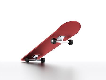 反射でレンダリングされたスケート ボード 写真素材