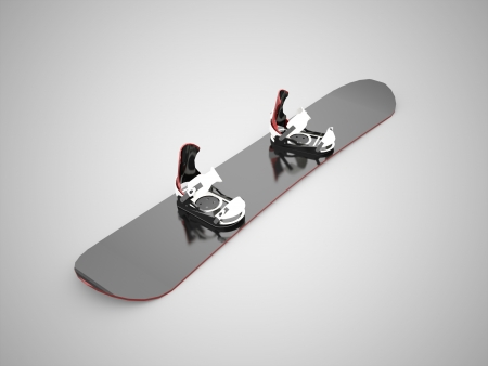 Black snow board concept photo