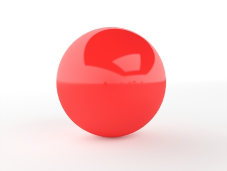 Red sphere with highlights isolated photo