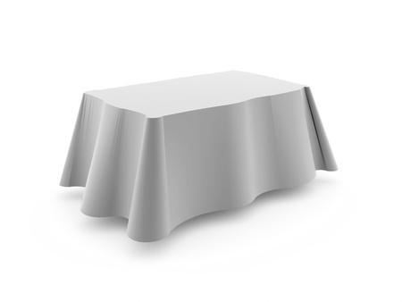 manteles: Mantel de mesa aislada en el fondo blanco